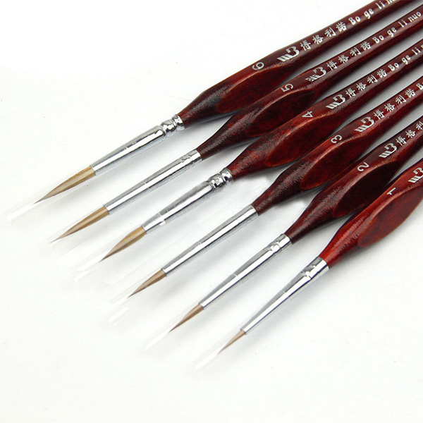 Drawing Straight Lines With Brush In Photo : Pcs set weasel hair line drawing pen brush wood handle