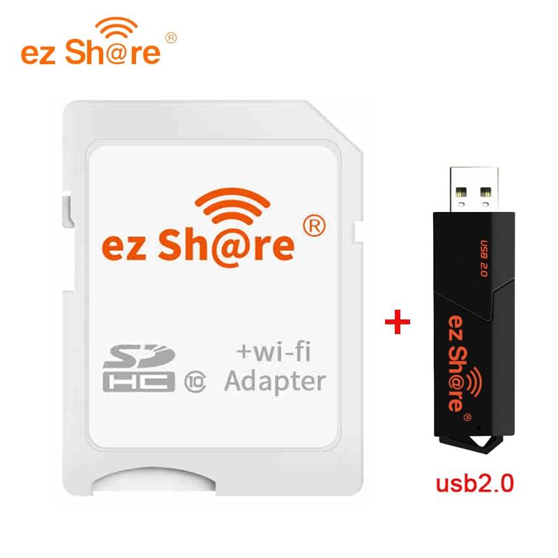 2018 oferta especial Venta Directa ez share Wifi adaptador Wifi tarjeta Sd y lector de tarjetas puede usar 8g 16g 32g sin tarjeta sd micro