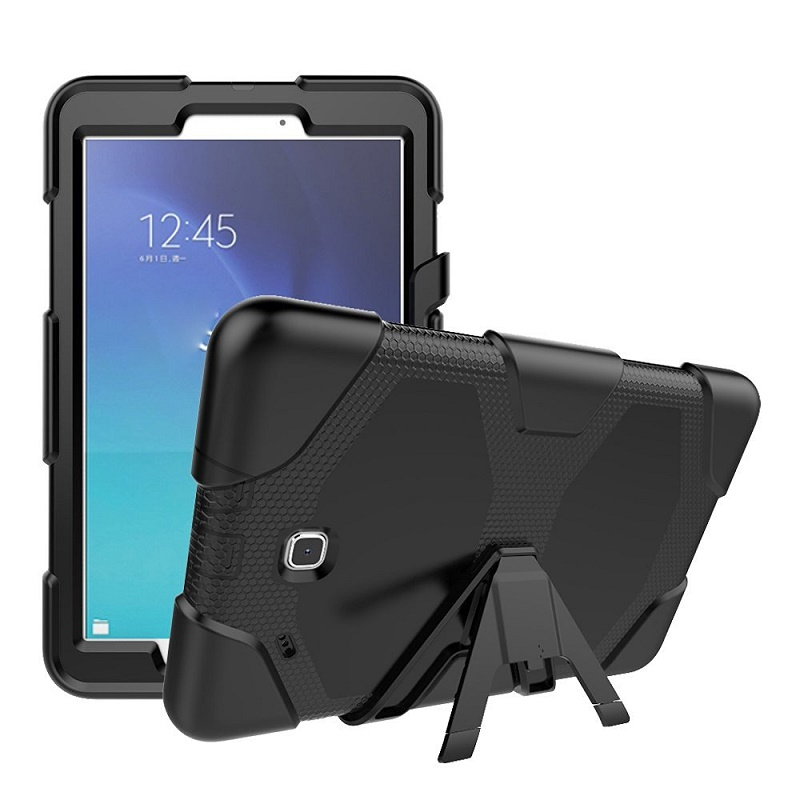 cheap for discount 10556 b85c6 US $16.39 5% OFF|Shock Proof Flat Case For Samsung Galaxy Tab E 9.6 SM T561  Silicone Rugged Cover For Galaxy Tab E 9.6 inch SM T560 Tablet Case-in ...