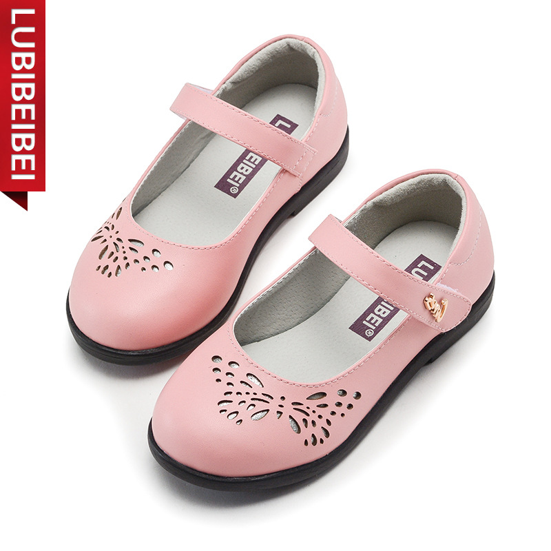 LUBIBEIBEI Brand Children Shoes New Kids Princess Shoes Hollow Black Student Shoes Party Casual Shoes For Girls 3 Colour KS127