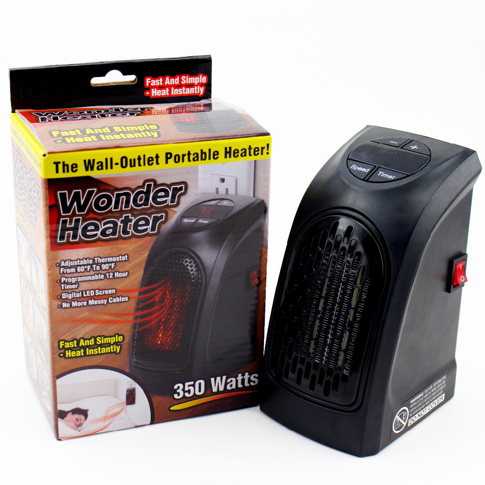 400w mini handy wall outlet heater electric air radiator home furnace warmer home improvement [ 1000 x 1000 Pixel ]