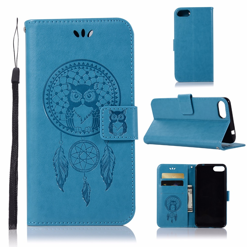 AIGLAT Case For ASUS ZenFone 4 Max ZC520KL 5.2inch PU Leather Flip Wallet Case Cover Stand Card Holder Embossed Owl Coque Capa