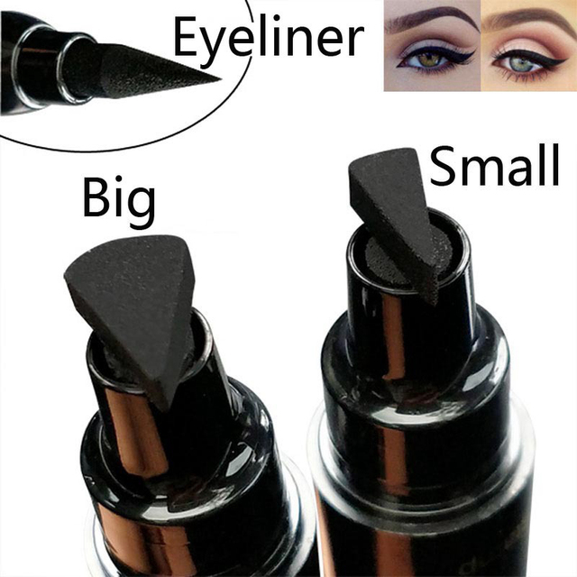 Black Liquid Eyeliner Stamp Marker Pencil Waterproof Stamp Double-ended Eye Liner Pen Cosmetic Eyliner 5 Styles 2