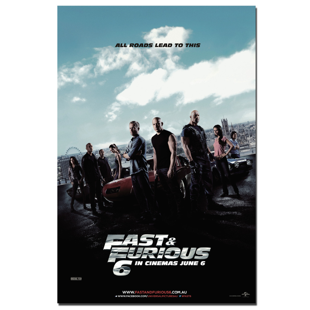Fast Furious 7 Paul Walker Posters Canvas Print Wall Art Picture For Room Decor In Painting Calligraphy From Home Garden On Aliexpress