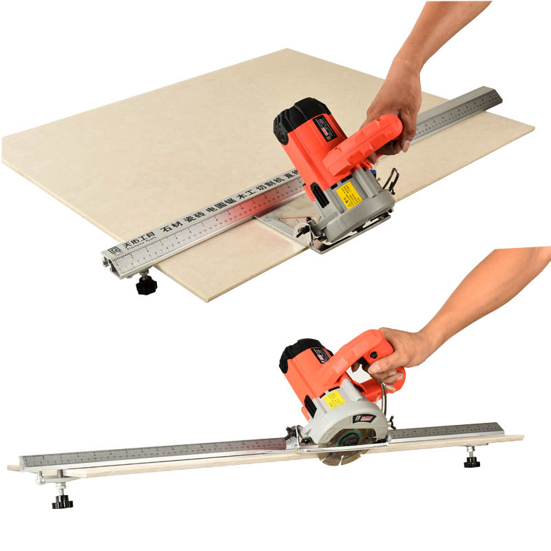 New Woodworking Electric Circular Saw Cutting Machine Guide Foot Ruler Guide Three-in-one 45 Degrees Chamfer Fixture