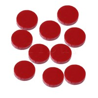 Yibuy 10x Red Stone Electric Acoustic Guitar Fingerboard Marker Dot 5x1.4mm