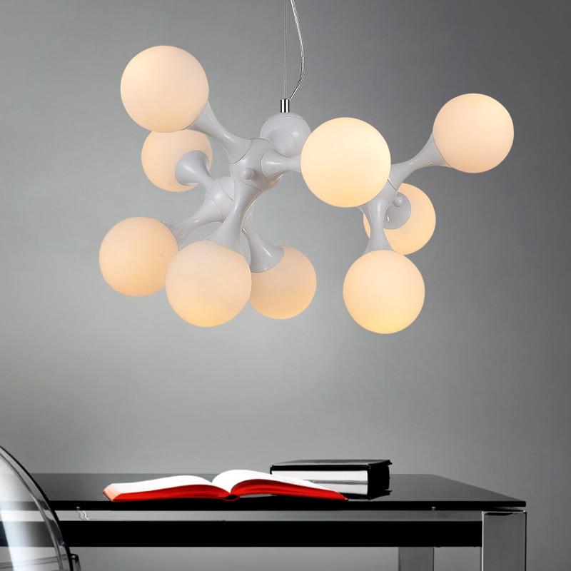 Modern creative pendant lamp white black  color dinning room pendant lamp with led bulbs home decoration light 110v 220v singular bulbs magic props white silver black