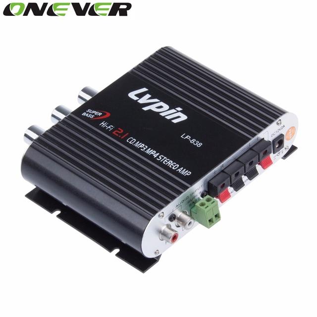 Car Amplifier 12V Mini Hi-Fi Amplifier Subwoofer Booster Radio MP3 2 Channel Stereo for Car Motorcycle caixa de som amplificada