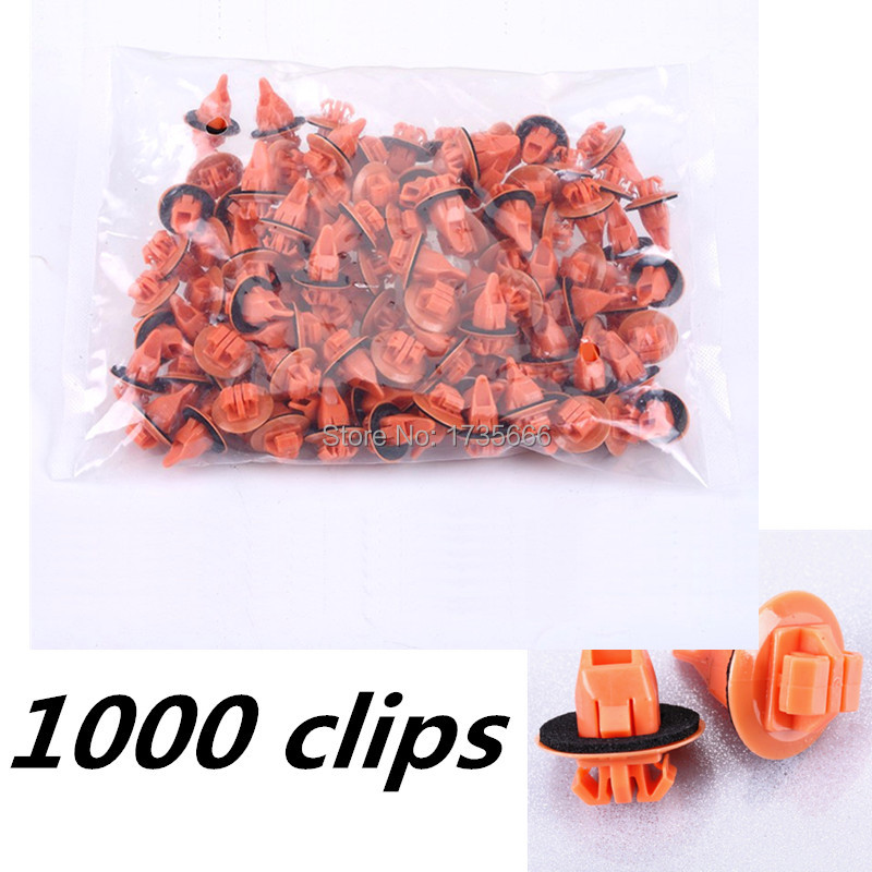 1000PCS Wheel Flare Moulding Clip Retainer With Sealer For Toyota 4Runner FJ Cruiser Highlander RAV4 Replaces 75397 35010-in Auto Fastener & Clip from Automobiles & Motorcycles    1