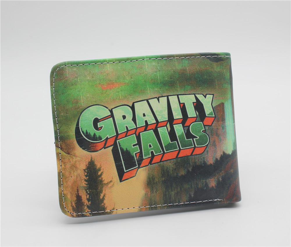 New Arrival American Gravity Falls Cartoon Children Anime Wallet Men Wallet Fairy Tail Women Short High Quality Leather Purse
