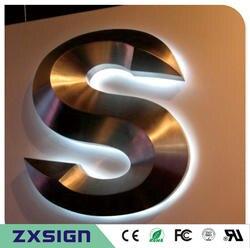 На заказ наружные водостойкие 3D задние освещенные буквы из нержавеющей стали знаки для магазина, магазина знаки, логотип компании
