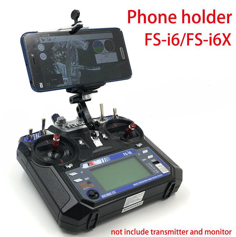 1PC 5inch/7inch Phone Holder Phone Mount Monitor Stand Black Aluminium Alloy For FS i6 i6X Remote Controller Drone Accessories