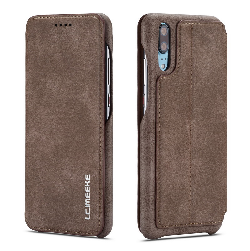Real Genuine Leather Flip iPhone Case  brown 2 sides