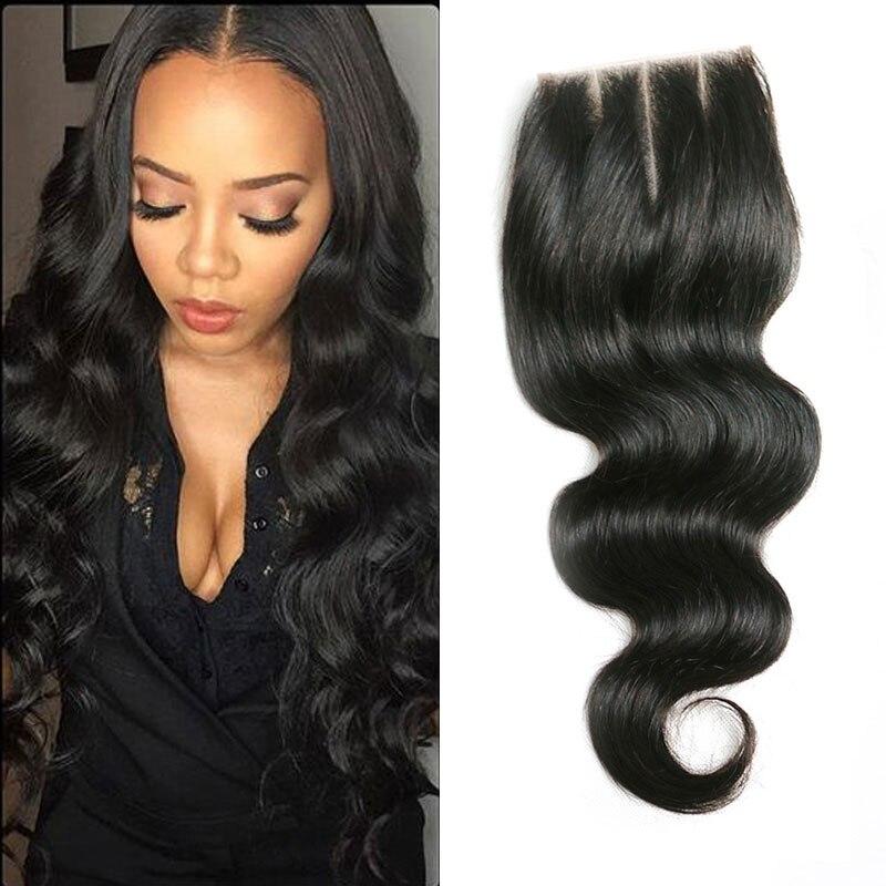 Brazilian Virgin Hair Silk Base Closure Sew In Weave 8a