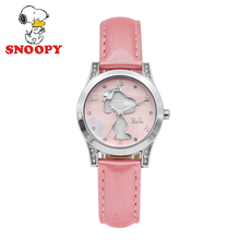 Snoopy Kids Watch Women chilidren Waterproof Shell Casual Fashion Cute Quartz Wristwatches Girls Leather Watchband clock