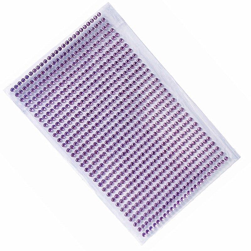 Einzelhandel 3mm Diy Aufkleber lila Kristall Diamant Strass ...