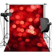 Red Shimmer New Fabric Flannel Photography Background For Wedding Light Vinyl Backdrop For Children photo studio F455