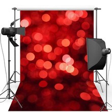 Red Shimmer New Fabric Flannel Photography Background For Wedding Light Vinyl Backdrop For Children photo studio F455 цена