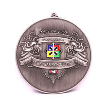 custom medal low price metal antique silver Medal hot sale round 3D sports