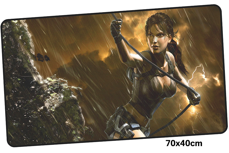 tomb raider mousepad gamer 700x400X3MM gaming mouse pad large best seller notebook pc accessories laptop padmouse ergonomic mat