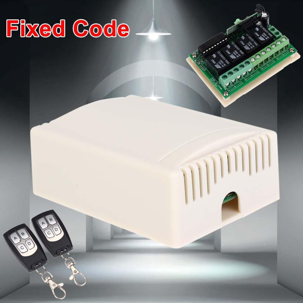 315 Mhz Receiver Module 12v Wireless Relay Switch Universal 315mhz Remote Control Transceiver Dc 4ch