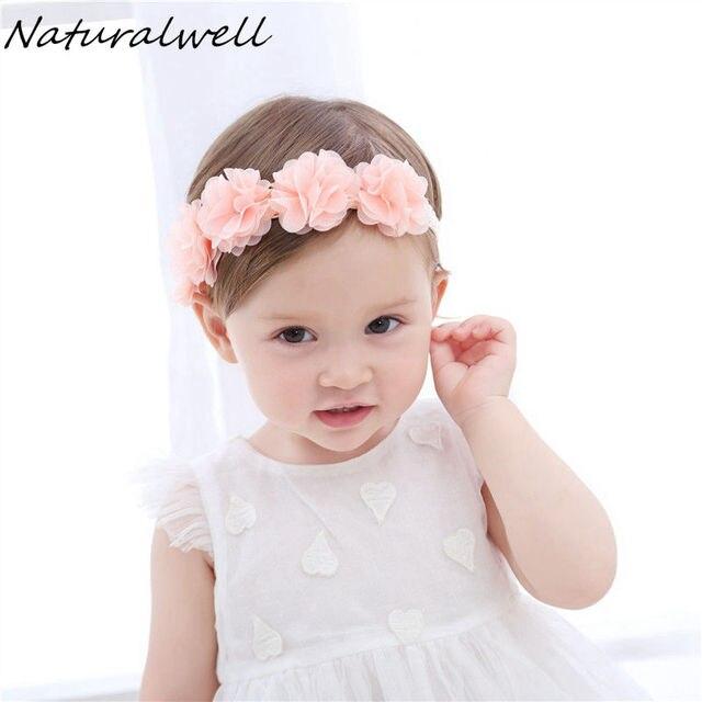 Naturalwell headband Da Flor bandage Lace hairband Meninas peruca acessório  Do cabelo da Criança Do Bebê 7f37d7be8897