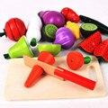 New chegada frutas corte o jogo de alimento magnético define brinquedos de madeira brinquedos de cozinha Pretend Play educacionais aniversário / presente de natal