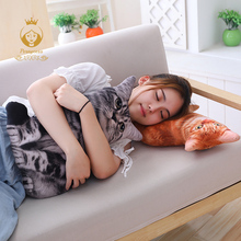 1PCS 50CM 3D Simulation Cats Pillow, Cute Cat Washable Plush Stuffed Pillow, Kids Toy, Sofa Pillow, Home Decoration