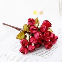 22 Cm Rose Pink Silk Peony Artificial Flowers Bouquet 5 Big Head Fake for Home Wedding Decoration Indoor Sztuczne Kwiaty