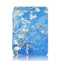 Folio estojo de couro PU para Amazon kindle 4/5 6 ''ereader capa + protetor de tela