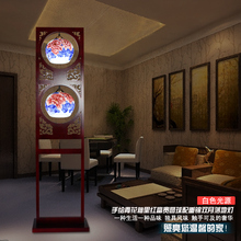 Высокое Качество Китай Старинные Керамические Ретро Торшер Home Decor Деревянный Цветочный Рисунок Торшеры Семья Свет