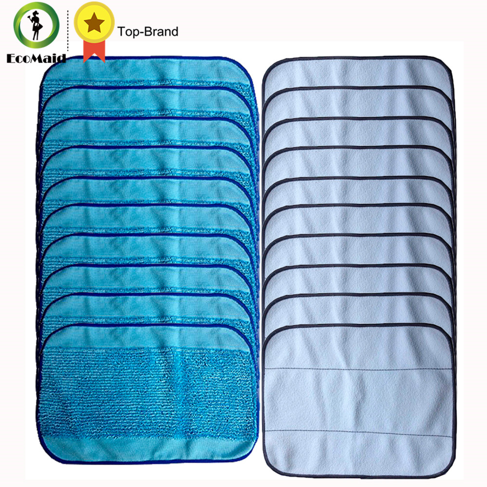 10 Wet +10 Dry  Mixed Microfiber Mopping Cloths for iRobot Braava 380 380t 320 Mint 4200 4205 5200 5200C Robot Replacement Clean blue wet microfiber mopping cloths for irobot braava 380 380t 320 mint 4200 4205 5200 5200c floor mopping robot