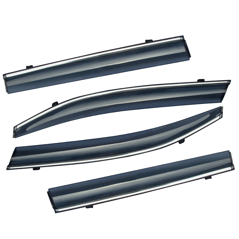 ABAIWAI Auto Car Window Protector PC Stainless Steel Visor ...