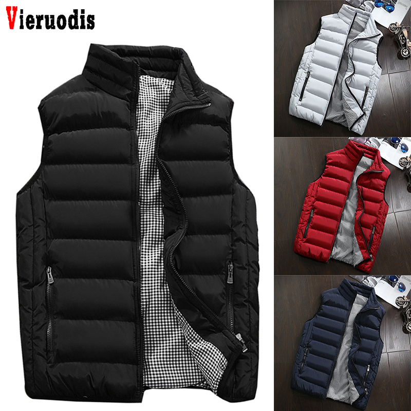 Mens Plus Size 5XL Vest Men New Stylish 2019 Spring Autumn Warm Sleeveless Jacket Men Winter Waistcoat Men's Vest Casual Coats