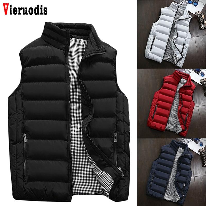 Mens Plus Size 5XL Vest Men New Stylish 2019 Spring Autumn Warm Sleeveless Jacket Men Winter Waistcoat Men's Vest Casual Coats