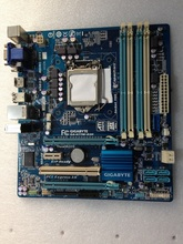 Free shipping original motherboard for Gigabyte H77M-D3H LGA1155 VGA DVI HDMI solid-state integrated graphics