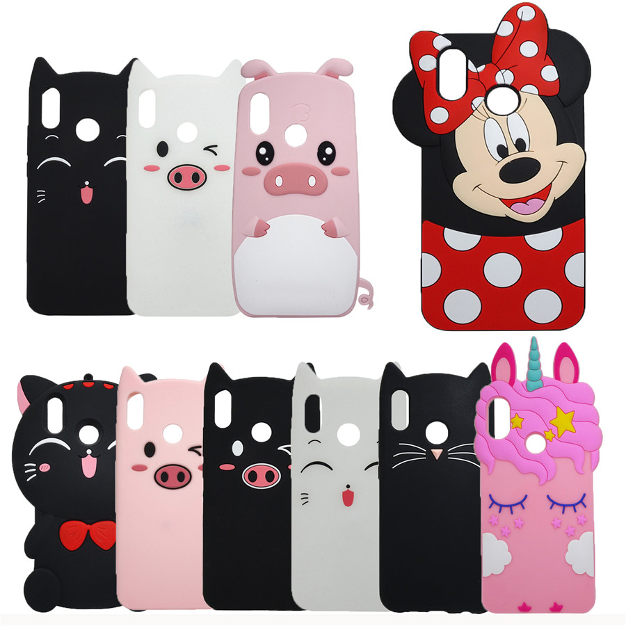 For Huawei Honor 8X Case Cover 3D Silicon Cartoon Pendant Cat Phone Cases For Huawei Honor 8X
