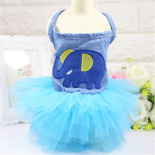 Summer Dog Clothes Soft Cotton Cat Skirt  Outfit For Small pet dog Clothing