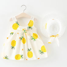 MUQGEW 2PCS Fashion Style Hot Summer Toddler Baby Kids Girls Dress Sleeveless Clothes Pineapple Princess Dresses+Hat Outfits Set(China)