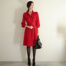 Office Lady Work Wear Elegant Spring Winter Women With Belted  Casual