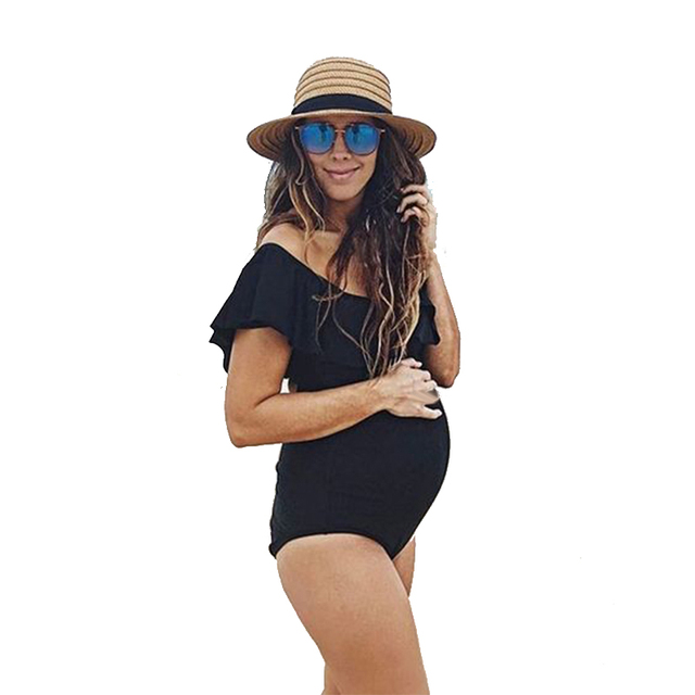 c9b660eb2ac03 Black Sexy Maternity Swimwear Clothing Pregnancy Wear Beach Bathing Suits  Pregnant Women Swimming Suits Clothes 2019 New