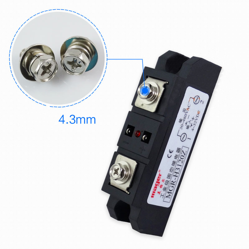 Free shipping 1pc Industrial use 120A DC-AC Solid state relay Quality DC-AC 220V MGR-H3120Z Mager SSR single phase solid state relay 220v ssr mgr 1 d4860 60a dc ac