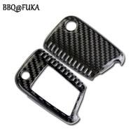 BBQ@FUKA Carbon Fiber Key Cover Case Skin Shell Fob Car Key Holder Covers for Octavia Superb Golf 7 MK7 Auto Accessories