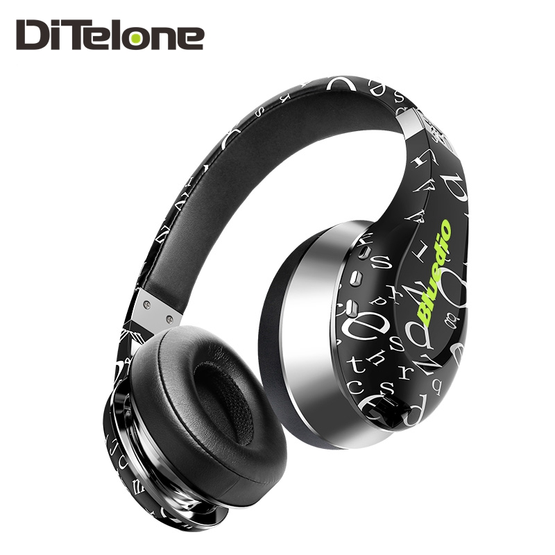Bluedio Air Bluetooth Headphones Wireless Mic HD Diaphragm Twistable Body 3D Surround Bass Stereo Headset Noise Cancelling original fashion bluedio t2 turbo wireless bluetooth 4 1 stereo headphone noise canceling headset with mic high bass quality