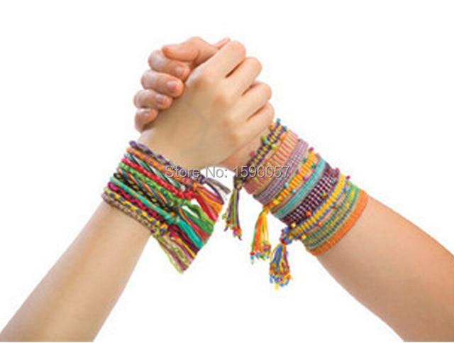 Diy Friendship Knit Bracelet Band Bead Jewelery Making Utilities