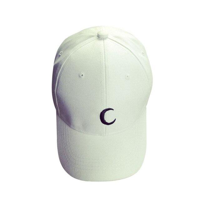 f7491594c7434 1 pc blanco negro Luna logotipo bordado gorra de béisbol de algodón niños  niñas Snapback Hip