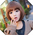 Newest&Hotest Straight Blonde short Wigs  Cute Fringe t Synthetic hair wigs for Women Wigs 12 Inches