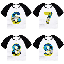 4321ed5e ZSIIBO Birthday T-shirt Girls Costume Boys Clothes Summer Short sleeve  Batman Cartoon print Tees