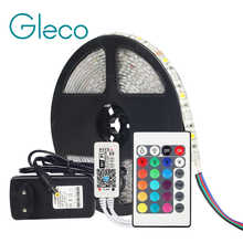 DC12V 5050 LED Strip RGB RGBW RGBWW 60LEDs/m 5M with mini WiFi / Bluetooth Controller and 3A power supply LED Strip set - DISCOUNT ITEM  30% OFF All Category