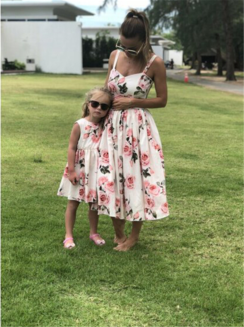 Family Mother Daughter Matching Women Girl Party Princess Fl